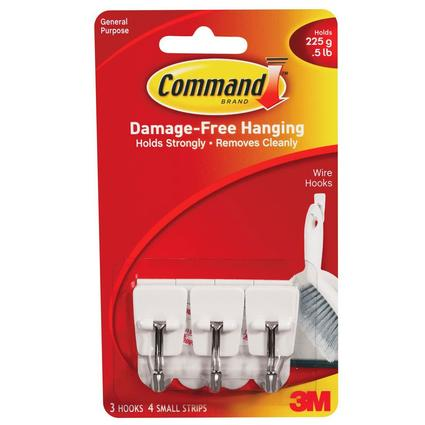 Command Small Wire Hooks - 3 Pack