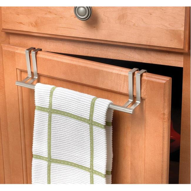 Image Brushed Nickel Over Door Towel Bar. To Enlarge The Image, Click Or  Press .