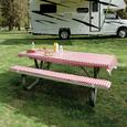 Table Cover & Padded Bench Cushions
