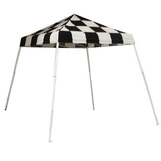 8x8 sports series slant leg canopy checkered flag