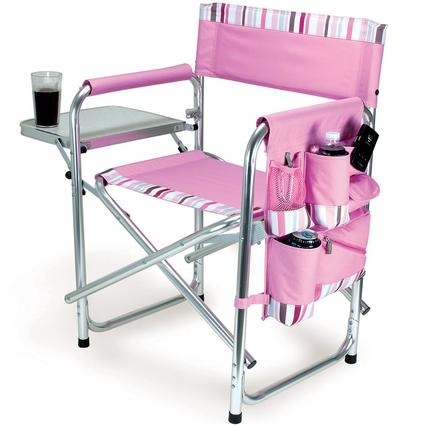 Sports Chair- Pink with Stripes