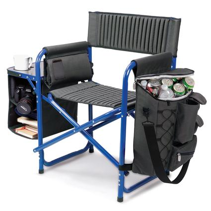 Fusion Chair- Dark Gray with Blue