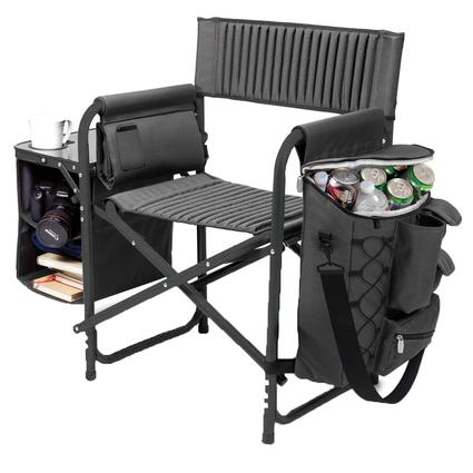 Fusion Chair- Dark Gray with Black