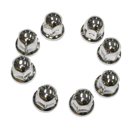 Lug Nut Covers Stainless Steel Ford 1-1/16