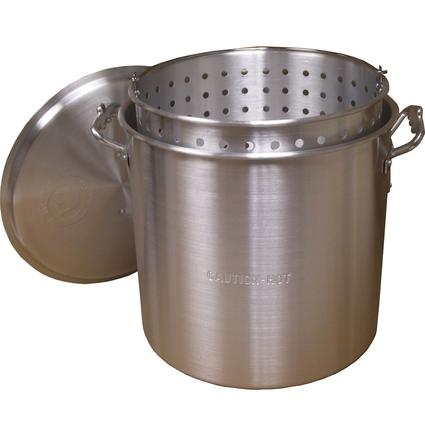 80 Quart Aluminum Pot w/ Lid and Basket