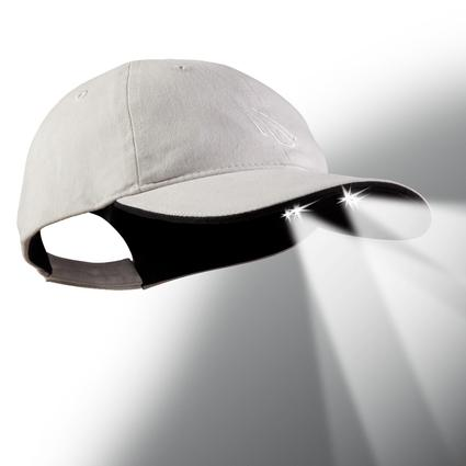 4 LED Baseball Cap - Stone