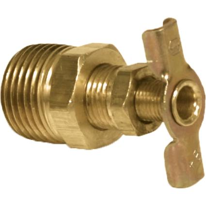 Brass Water Heater Drain Valve, 1/2""