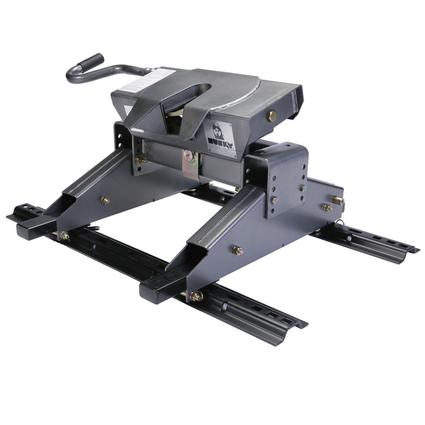 Husky 16,000 lb. 5th Wheel Hitch with EZ Roller for Short Bed Trucks