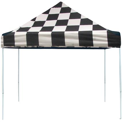 10X10 Pro Series Pop-Up Canopy - Checkered Flag