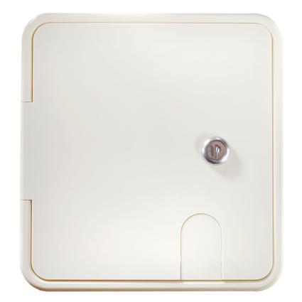Locking RV Electrical Hatch – Rectangular – Polar White