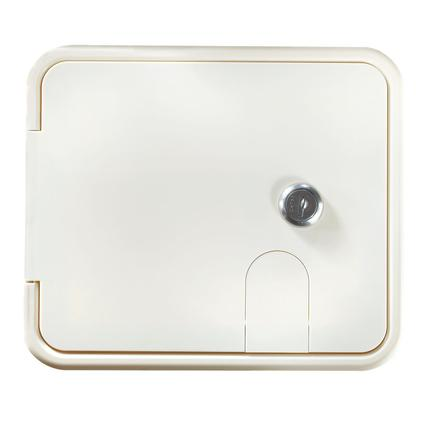 Locking Electrical Hatch – Polar White