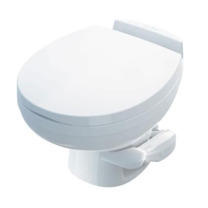 Aqua-Magic Residence Low Profile Toilet with Water Saver Spray - White