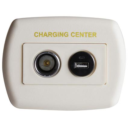 USB 12 Volt Charger - Ivory