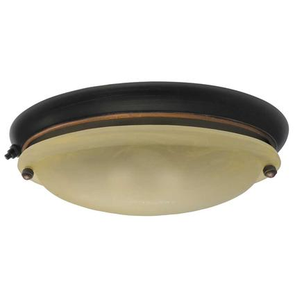 Truffle Finish Dinette or Undercabinet Light with Bisque Glass