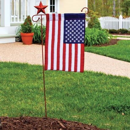Appliqué USA Garden Flag