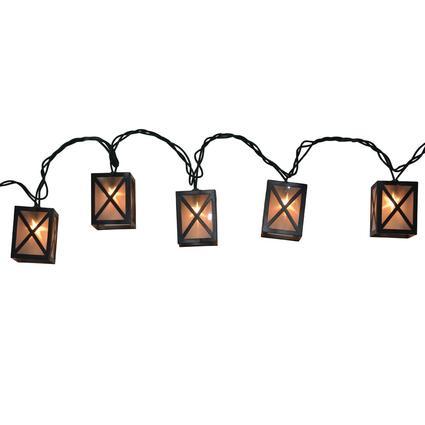 10 Bulb Star Lantern Lights, 7.8'