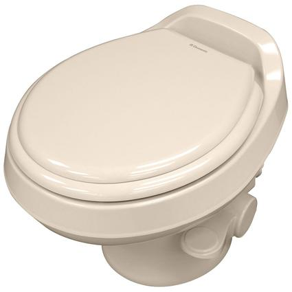 Dometic Low Profile 300 Gravity Flush Toilet - Bone