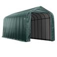 Peak Style Shelter 15 x 36 x 16 Green Cover