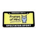 License Plate - Democracy isn't a Spectator Sport