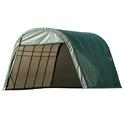 Round Style Shelter 13 x 24 x 10 Green Cover