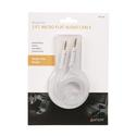 White Micro Flat Auxiliary Cord, 3'