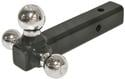 Tri Ball Hitch, Chrome, Solid Shaft