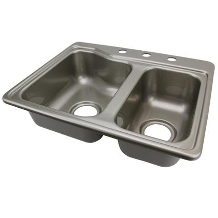 Double Kitchen Sink - Stainless Steel Color