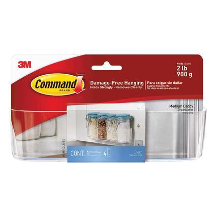 Command Clear Organization Caddy, Medium, 2 lb. capacity