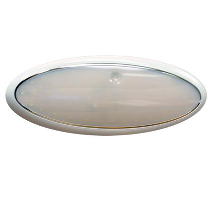 "11"" Oval LED Slim Line Touch Light Fixture with 72 SMD Diodes"