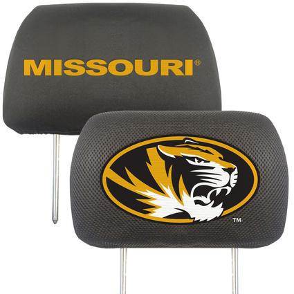 Fanmats Head Rest Covers, Set of 2 - University of Missouri