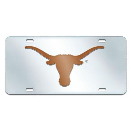 Fanmats Mirrored Team License Plate - University of Texas