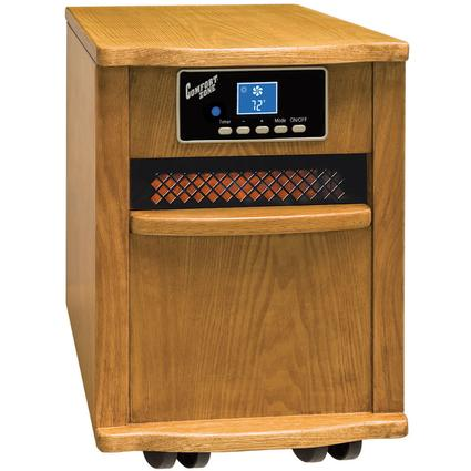 Extra-Large Infrared Cabinet Heater - Oak Finish