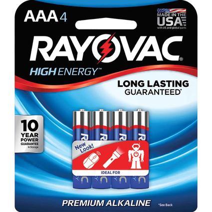 Alkaline AAA Battery, 4 Pack