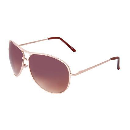 Ladies' Gold Aviator Sunglasses