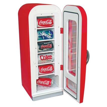 Coca Cola Retro Vending Cooler - 12 Can Capacity