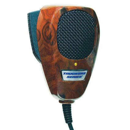 RoadPro - 4-Pin Noise Canceling CB Microphone - Wood Grain