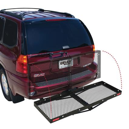 Folding Hitch-Mounted Cargo Carrier