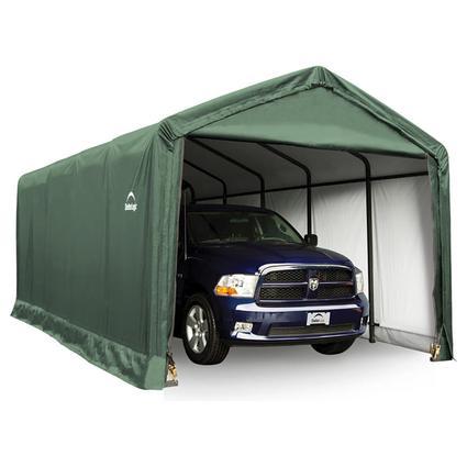 ShelterTUBE Storage Shelter 12 x 25 x 11 Green Cover