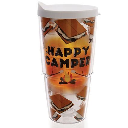 Happy Camper Smores Tumblers, 24 oz.