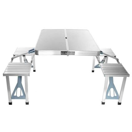 Aluminum 4-Seater Folding Picnic Table