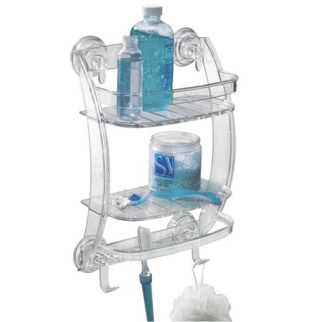 Powerlock Shower Organizer - Interdesign 53820 - Bathroom Storage ...