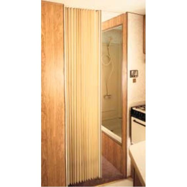 Image Pleated Bi Fold Door   Beige. To Enlarge The Image, Click Or .