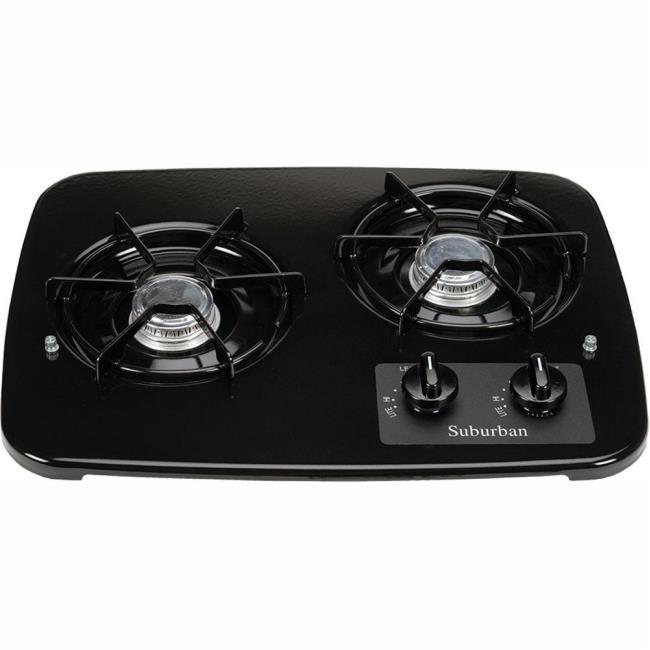 Image 2 Burner Drop In Cooktop, Black Top. To Enlarge The Image,