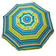 Lime Striped Beach Umbrella with Travel Bag, 7
