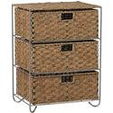 Seagrass/Rattan 3-Drawer Chest