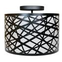 Laser Cut Metal Drum Shade Dinette, 13.5