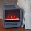Silver Skyline Electric Fireplace Stove