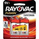 Rayovac 9-Volt Batteries, 4 Pack