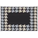 Reversible Patio Mats, 9' x 12' Honeycomb Design Black/Gray/Tan