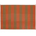 Reversible Patio Mats, Basic Stripe 9' x 12', Terracotta/Brown